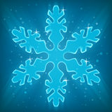 Shiny Snowflake. Royalty Free Stock Photography