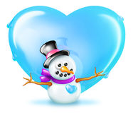 Shiny Snowman Royalty Free Stock Photo
