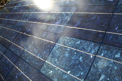 Shiny Solar Panel. Angled few of a bright solar panel Stock Photos