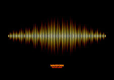 Shiny sound waveform Royalty Free Stock Photography