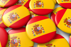 Shiny spain ensigns Stock Images