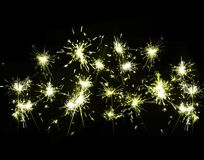 Shiny sparklers Royalty Free Stock Photography