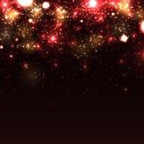 Shiny sparkles on black background Stock Images