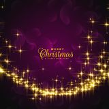 Shiny sparkles for christmas festival greeting. Illustration Royalty Free Stock Photo