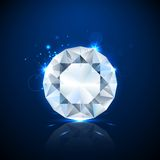 Shiny sparkling Diamond Royalty Free Stock Images