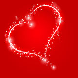 Shiny and sparkling heart Royalty Free Stock Photography