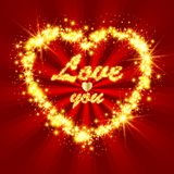 Shiny and sparkling heart Royalty Free Stock Image