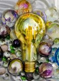 Shiny and sparkling ideas or project, god project among others or brainstorming royalty free stock images