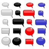 Shiny speech bubbles Royalty Free Stock Photos