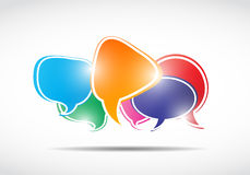 Shiny speech bubbles concept Royalty Free Stock Image