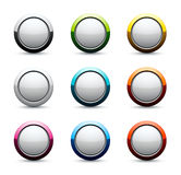Shiny sphere icons. Isolated on white Royalty Free Stock Images