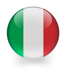 Shiny sphere with italian flag Royalty Free Stock Photos
