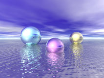 Shiny Spheres Royalty Free Stock Images