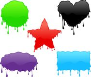 Shiny Splatters Shapes Stock Image