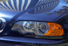 Shiny Sports Car. Front of shiny sports car Royalty Free Stock Photography