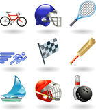 Shiny sports icon set series Stock Photo