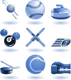 Shiny sports icon set series Royalty Free Stock Images