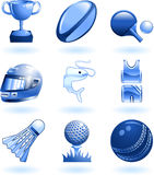 Shiny sports icon set series Royalty Free Stock Photo