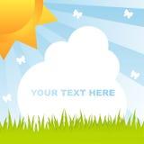 Shiny Spring Frame Royalty Free Stock Image