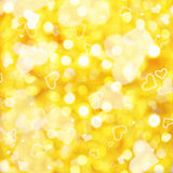 Shiny square background of golden lights Royalty Free Stock Image