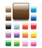 Shiny square tabs. Glossy, shiny candy looking square tabs for web. Completed with round and elongated bar buttons in my profile Royalty Free Stock Photography