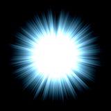 Shiny star. Abstract shiny star on black background Royalty Free Stock Photo