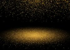 Shiny Star Burst Light with Gold Glitter Sparkles. Shining Motion Luxury Design. Magic Golden Light Effect. Vector Background. Shiny Star Burst Light with Gold Royalty Free Stock Image