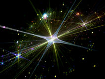 Shiny star with particles in space Royalty Free Stock Image