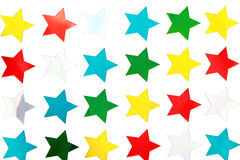 Shiny Star Stickers Royalty Free Stock Image