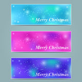 Shiny Starry Christmas Banner Stock Images