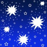 Shiny stars. Pattern on blue background for festivals and celebrations Royalty Free Stock Photography