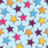 Shiny stars. Colorful seamless pattern Royalty Free Stock Image