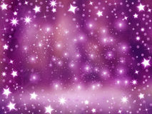 Shiny stars background. Christmas background frame with frozen stars and red/purple background Stock Images
