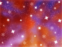 Shiny stars background. With colorfull background Royalty Free Stock Photography