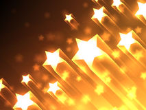 Shiny Stars Background Stock Photography