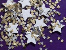 Shiny stars background Stock Photo