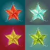 Shiny stars backgrounds Stock Images
