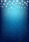 Shiny stars on blue Royalty Free Stock Photos