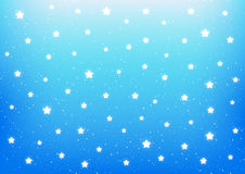 Shiny stars on blue Royalty Free Stock Image