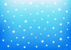 Shiny stars on blue. Background Royalty Free Stock Image