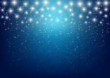 Shiny stars on blue background Royalty Free Stock Image