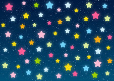 Shiny stars on blue sky. Background Stock Image