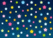 Shiny stars on blue sky Stock Image