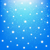 Shiny stars on blue sky Royalty Free Stock Photo