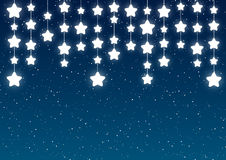 Shiny stars on dark blue sky. Shiny stars on blue sky background Royalty Free Stock Image