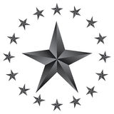 Shiny  Stars. Form of first. Illustration for design on white background Royalty Free Stock Photography