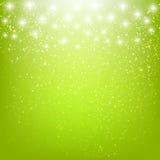Shiny stars on green Stock Photography