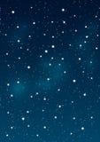 Shiny stars on night sky Royalty Free Stock Photo