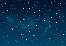 Shiny stars on night sky Royalty Free Stock Images