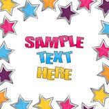 Shiny stars party invitation Stock Images